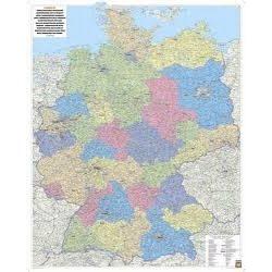 Németország választókörzetei, műanyaghengerben, 1:700 000  Freytag térkép VKD P