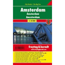 Amszterdam, 1:10 000 City Pocket vízhatlan Freytag térkép PL 105 CP