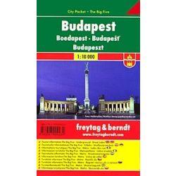 Budapest belváros térkép, 1: 10 000 zsebtérkép, vízhatlan Freytag PL 23 CP