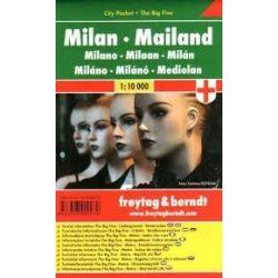 Milánó, 1:10 000 City Pocket vízhatlan  Freytag térkép PL 110 CP