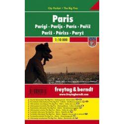Párizs, 1:10 000 City Pocket vízhatlan  Freytag térkép PL 69 CP