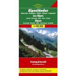 Alpok országai, 1:800 000 Freytag térkép AK 2703