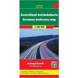 Németország autópályatérkép, 1:700 000  Freytag térkép AK 0221