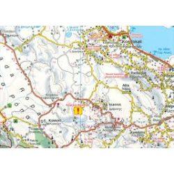 Korfu, 1:50 000  Freytag térkép AK 0831
