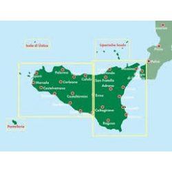 Szicília térkép Palermo várostérképpel, Top 10 tipp, 1:150 000  Freytag térkép AK 0618