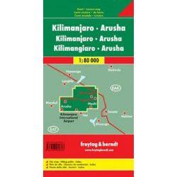 Kilimandzsáró térkép - Arusha, 1:80 000  Freytag Kilimanjaro térkép, Kilimanjaro turista térkép