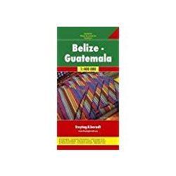 Belize térkép, Guatemala térkép Freytag 1: 400 000