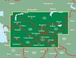 Közép-Ázsia, Dél-Kazahsztán - Tádzsikisztán - Kirgizisztán - Türkmenisztán - Üzbegisztán, 1:1 500 000  Freytag térkép AK 155
