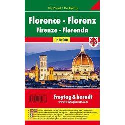 Firenze térkép 1:10 000  Freytag  pocket, Firenze zsebtérkép