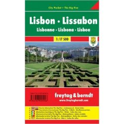 Lisszabon térkép 1:17 500 City Pocket vízhatlan  Freytag térkép PL 89 CP