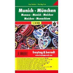 München, 1:10 000 City Pocket vízhatlan  Freytag térkép PL 26 CP