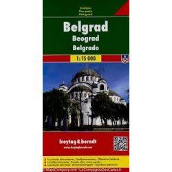 Belgrád térkép Freytag 1:15 000