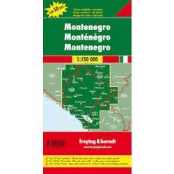 Montenegró térkép, Crna Gora, 1:150 000  Freytag  AK 0713