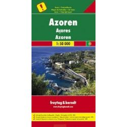 Azori-szigetek térkép, 1:50 000 Freytag, Azori térkép