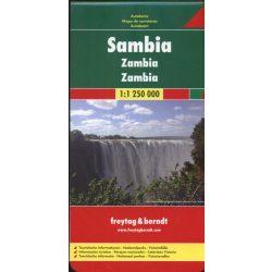 Zambia 1:1 250 000  Freytag térkép AK 172