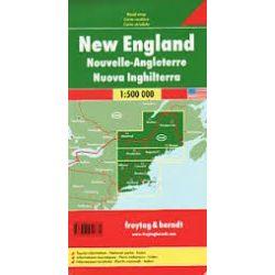 New England térkép, 1:500 000  Freytag térkép AK 171