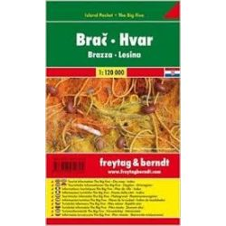 Brač-Hvar, 1:120 000 Freytag térkép AK 0705 IP