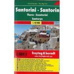 Santorini Island térkép Freytag 1:40 000 Pocket Szantorini térkép