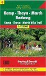 RK 9 Kamp, Thaya, March Radweg kerékpáros térkép Freytag & Berndt 1:125 000