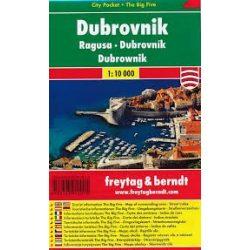 Dubrovnik térkép  1:10 000  City Pocket vízhatlan  Freytag térkép PL 134 CP