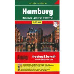 Hamburg, 1:10 000 City Pocket vízhatlan  Freytag térkép PL 133 CP