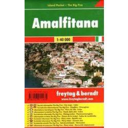 Amalfi térkép, Amalfi öböl  1:40 000 Amalfitana térkép Freytag