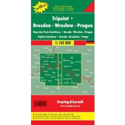 Dreiländereck térkép, Dresden-Breslau-Prag térkép, Top 10, 1:150 000  Freytag térkép DEU 7