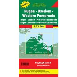 Rügen-Usedom-Vorpommern, Top 10 tipp, 1:150 000  Freytag térkép DEU 9