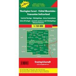 Türingiai edő térkép, Thüringer Wald-Fichtelgebirge-Fränkische Schweiz, Top 10, 1:150 000  Freytag DEU 11