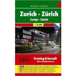 Zürich, 1:10 000 City Pocket vízhatlan  Freytag térkép PL 67 CP