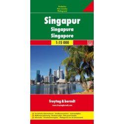 Singapore Szingapur térkép Freytag 1:15 000  2010