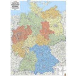 Németország falitérkép, Németország közigazgatása fémléces, műanyaghengerben, 1:700 000  Freytag