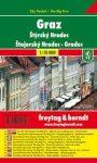 Graz térkép  1:10 000 City Pocket vízhatlan  Freytag térkép PL 14 CP