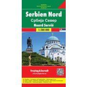 Észak-Szerbia térkép  1:200 000  Freytag térkép AK 0714
