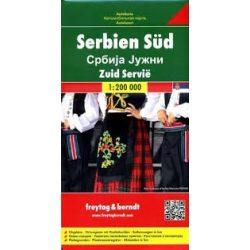 Dél-Szerbia térkép  1:200 000  Freytag térkép AK 0715