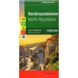 Macedónia térkép 1:200 000  Freytag AK 0717    2018
