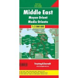 Közel-Kelet térkép 1:2 000 000  Freytag térkép AK 2006