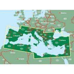 Földközi-tenger hajóútvonalai térkép Freytag AK 2007