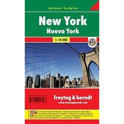 New York térkép, 1:18 000 New York City térkép Pocket vízhatlan Freytag, Manhattan térkép