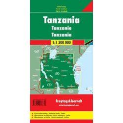 Tanzánia térkép, 1:1 300 000  Freytag AK 2102