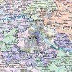 Ausztria postai irányítószámos térkép, műanyaghengerben, 1:500 000, (122 x 84 cm) Freytag térkép PLZK P