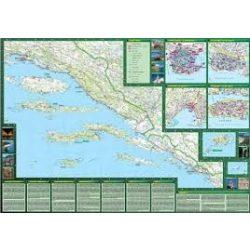 Horvát tengerpart Dél térkép 1:200 000 WCS  Freytag térkép AK 7403S WCS