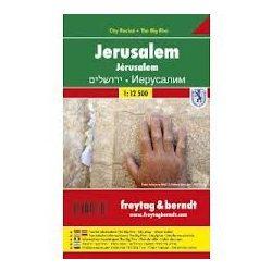 Jeruzsálem térkép  1:12 500 City Pocket vízhatlan  Freytag térkép PL 506 CP