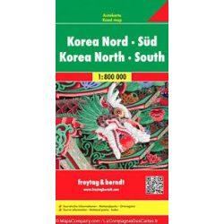Korea térkép Freytag & Berndt 1:800 000  Korea-Dél térkép