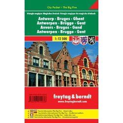 Brugge térkép Freytag 1:12 500  2013 Antwerpen, Brügge, Gent térkép