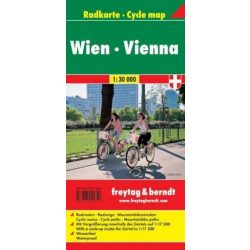 Bécs kerékpáros térkép laminált 1:30 000  Freytag térkép RK W