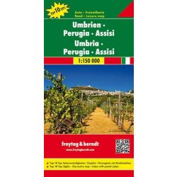 Umbria térkép Top 10, 1:150 000  Freytag térkép Perugia térkép 2014
