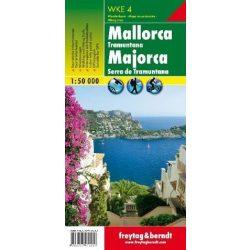 WKE 4 Mallorca térkép,Tramuntana térkép Freytag 1:50 000  2016