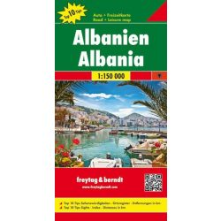 Albánia térkép  1:150 000 Freytag Top 10, 2019  AK 9503