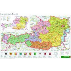 Ausztria falitérkép közigazgatási, műanyaghengerben, 1:1 300 000, 45,5 x 30 cm Freytag 2014
